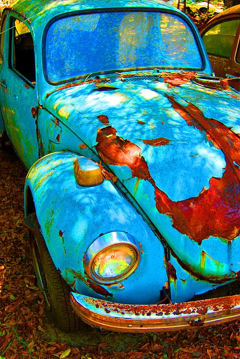 Vw Photograph - Rusty Blue by Kendra Longfellow