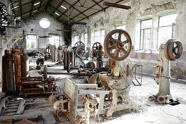 Abandoned Photograph - Rusty Machinery by Carlos Caetano