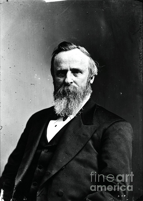 Government Photograph - Rutherford B. Hayes, 19th American by Photo Researchers