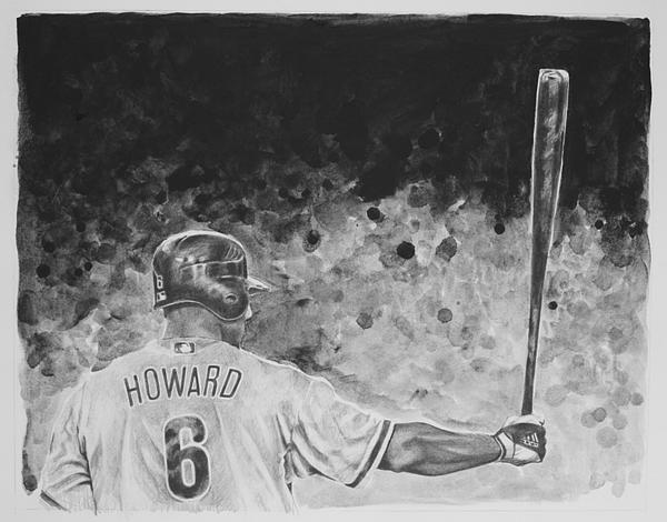 Ryan Howard Drawing - Ryan Howard by Paul Autodore