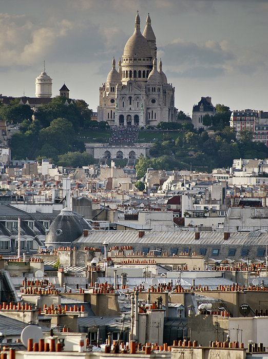 France Photograph - Sacre Coeur Rooftops by Gary Eason