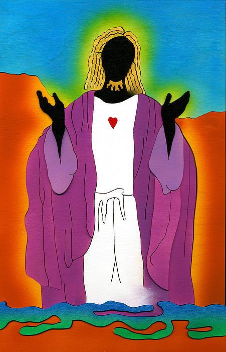 Jesus Mixed Media - Sacred Heart Of Jesus by Fred Gardner