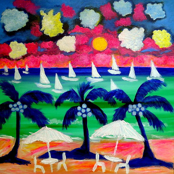 Sailing Mexico Painting by Ted Hebbler