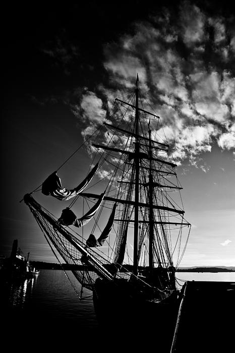 Expressionism Photograph - Sails In The Sunset by Hakon Soreide