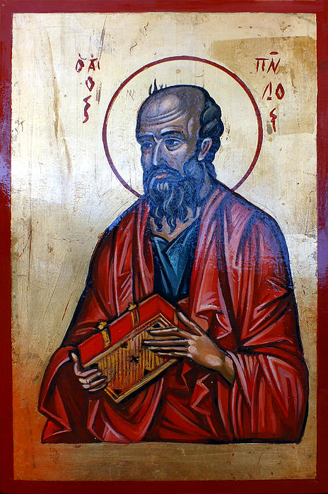 Icon Painting - Saint Paul by Filip Mihail