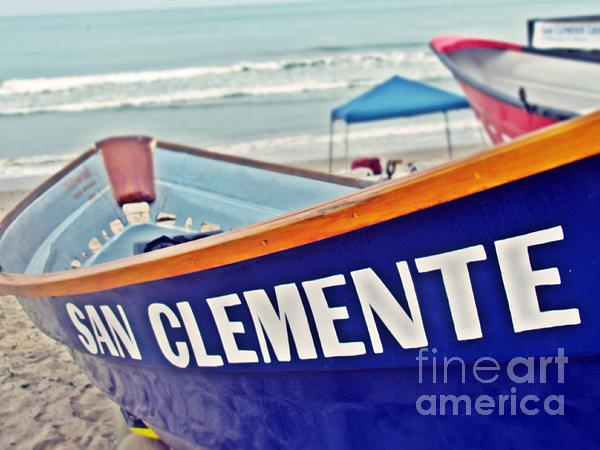 Lifeguards Photograph - San Clemente Dory Boat by Traci Lehman