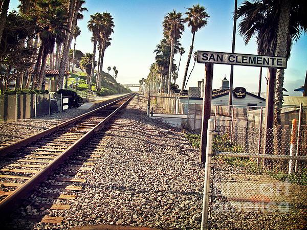 San Clemente Photograph - San Clemente Train Tracks by Traci Lehman