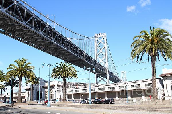 San Francisco Photograph - San Francisco Bay Bridge At The Embarcadero . 7d7735 by Wingsdomain Art and Photography