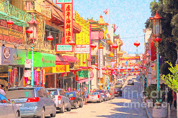 San Francisco Photograph - San Francisco Chinatown by Wingsdomain Art and Photography
