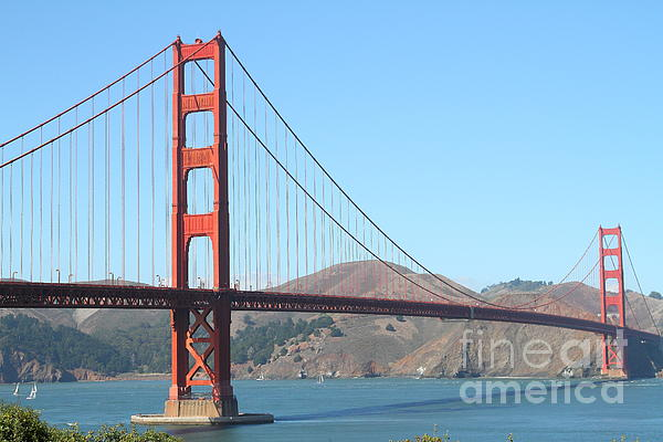 San Francisco Photograph - San Francisco Golden Gate Bridge . 7d7802 by Wingsdomain Art and Photography