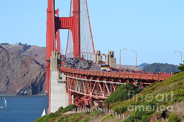 San Francisco Photograph - San Francisco Golden Gate Bridge . 7d8151 by Wingsdomain Art and Photography