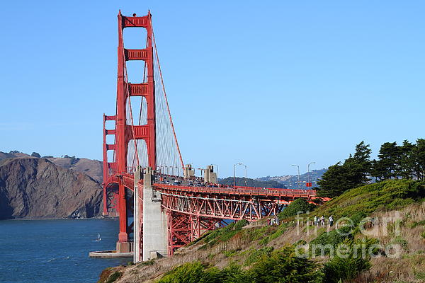 San Francisco Photograph - San Francisco Golden Gate Bridge . 7d8158 by Wingsdomain Art and Photography