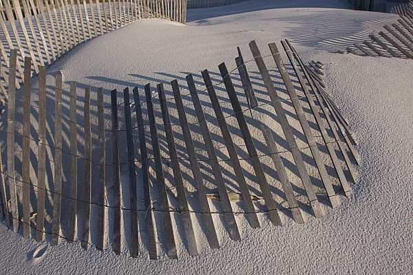 Day Photograph - Sand Fence On The Beach In Destin by Marc Moritsch