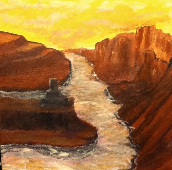 Desert Painting - Sand Water by Richard  Hubal