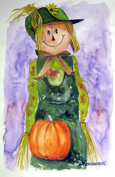 Scarecrow Painting - Scarecrow by John Smeulders