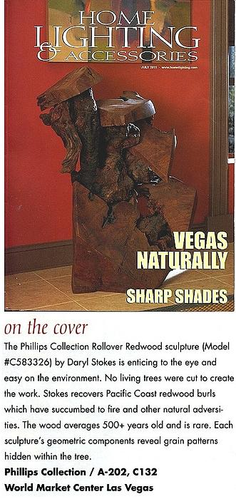 Sculpture Featured On Cover Of National Magazine Sculpture by Daryl Stokes