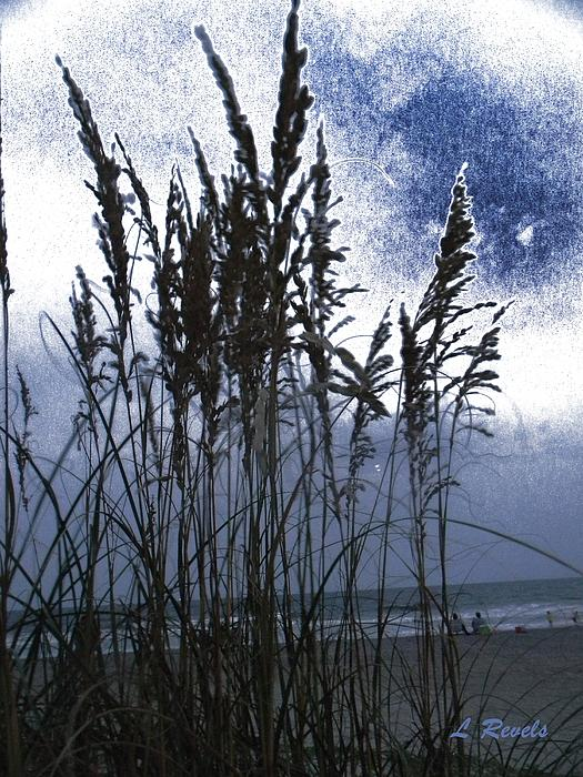 Beach Photograph - Sea Oats On Tybee by Leslie Revels Andrews