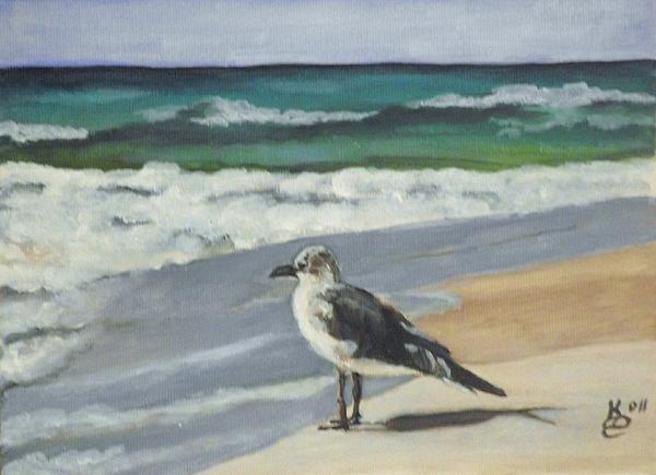 Acrylic Painting Painting - Seagull by Kim Selig