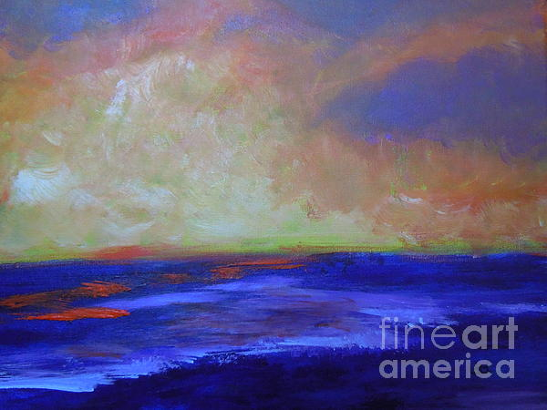Abstract Painting - Seascape-golden Sunrise by Lam Lam