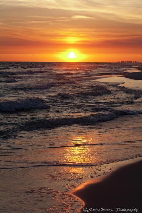 Sunset Photograph - Seaside Serenade I by Charles Warren
