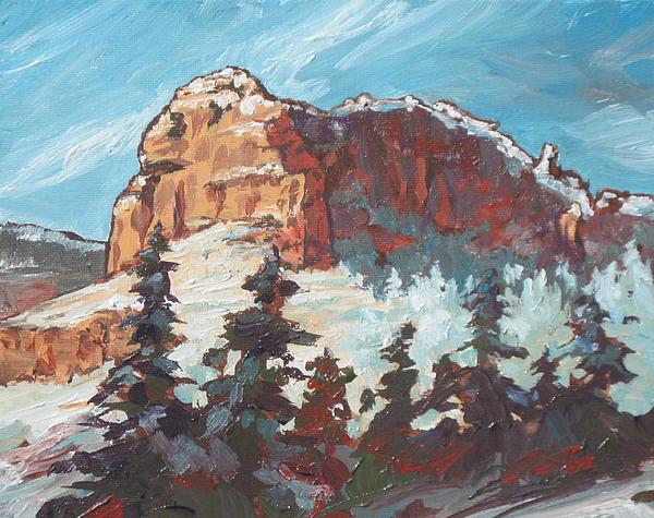 Sedona Painting - Sedona Snow by Sandy Tracey