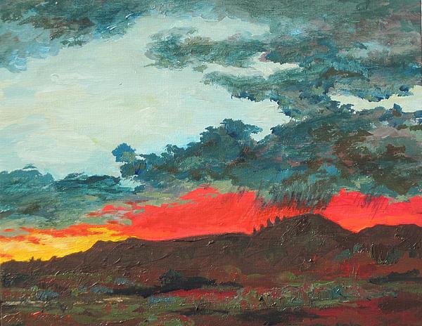 Sedona Painting - Sedona Sunset by Sandy Tracey