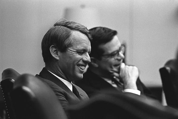 History Photograph - Sen. Robert Kennedy And Ted Sorenson by Everett