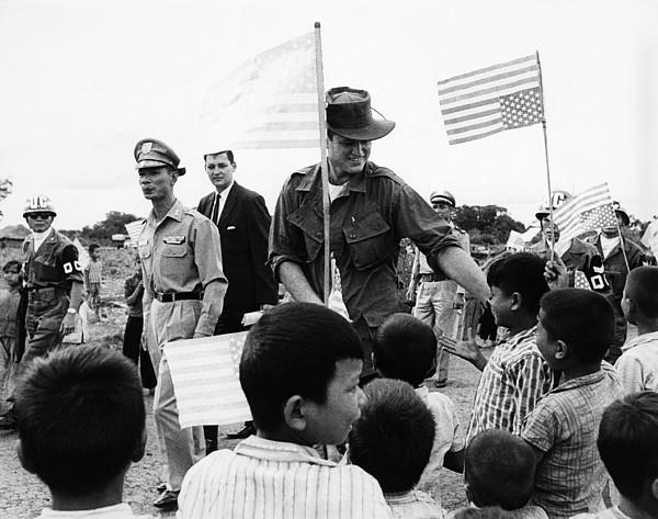Senator Edward Kennedy, Touring Ban Me Photograph by Everett