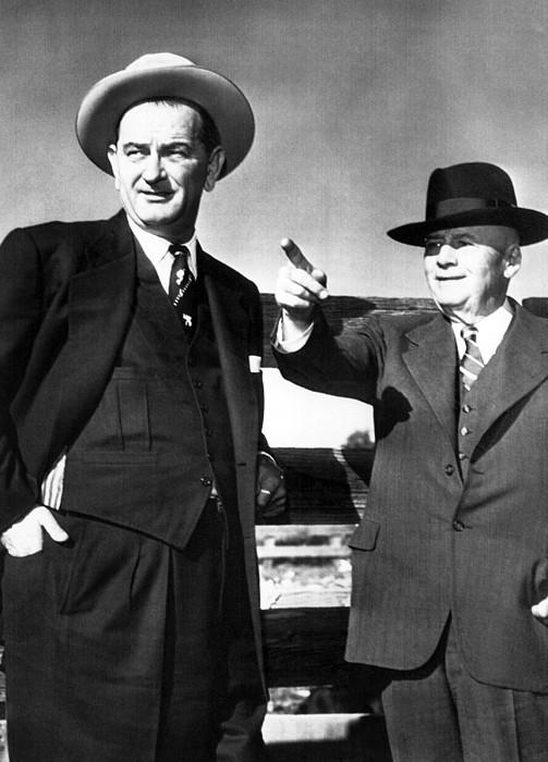 Senator Lyndon B. Johnson And House Photograph by Everett