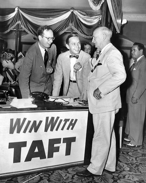 History Photograph - Senator Robert Tafts Two Sons Promote by Everett