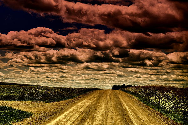 Cloud Photograph - Serene Summer Drive by Emily Stauring
