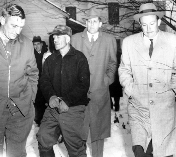 1950s Photograph - Serial Killer Ed Gein Is Led Away by Everett