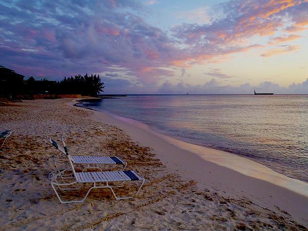 Cayman Photograph - Seven Mile Beach Sunset by Carey Chen