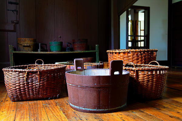 Shaker Photograph - Shaker Baskets by Lone Dakota Photography