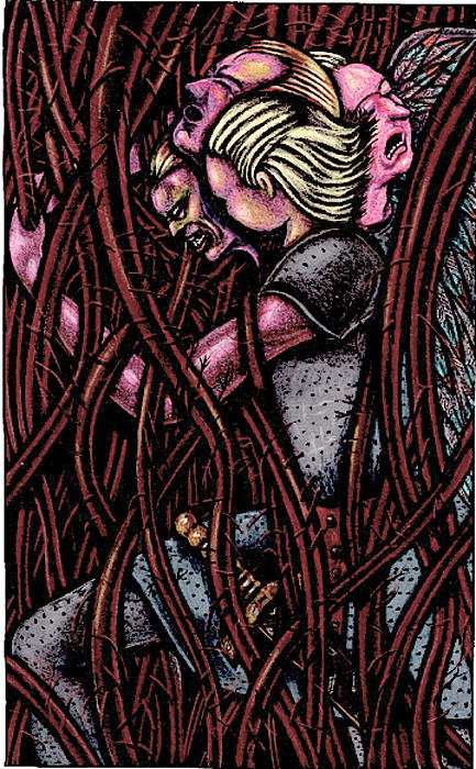 Vines Drawing - Shamsiel In The Roots by Al Goldfarb