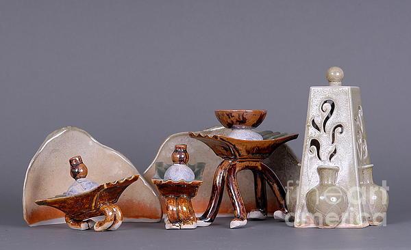Ceramics Ceramic Art - Ships Of The Night by Tracy Pickett