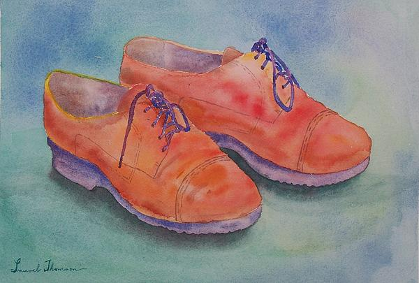 Still Life Painting - Shoes Of A Different Colour by Laurel Thomson
