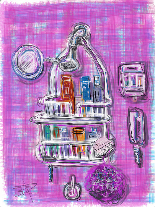 Shower Mixed Media - Shower Time by Russell Pierce