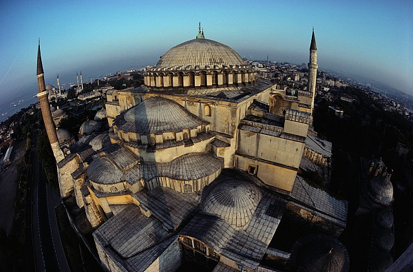 Hagia Sophia Photograph - Side Domes And Minarets Gather by James L. Stanfield