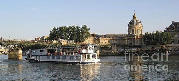 France Photograph - Sightseeing Boat On River Seine. Paris by Bernard Jaubert