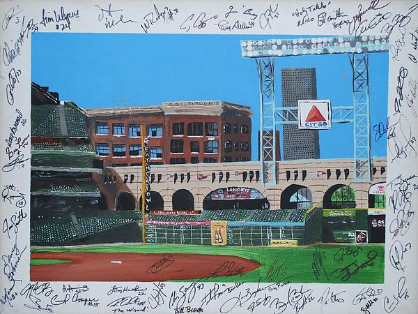 Autographed Painting - Signed Minute Maid by Leo Artist