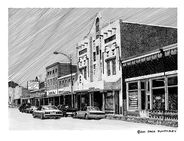 City Streets Drawing - Silver City New Mexico by Jack Pumphrey