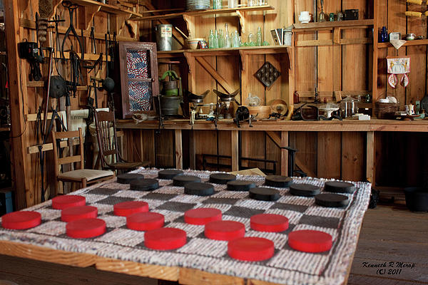 Checkers Photograph - Simpler Times by Ken Merop