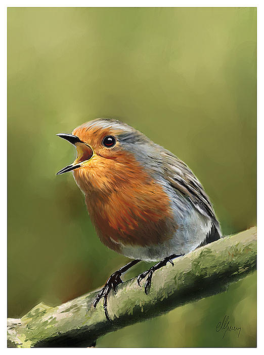Sing Red Robin Sing Painting by Michael Greenaway