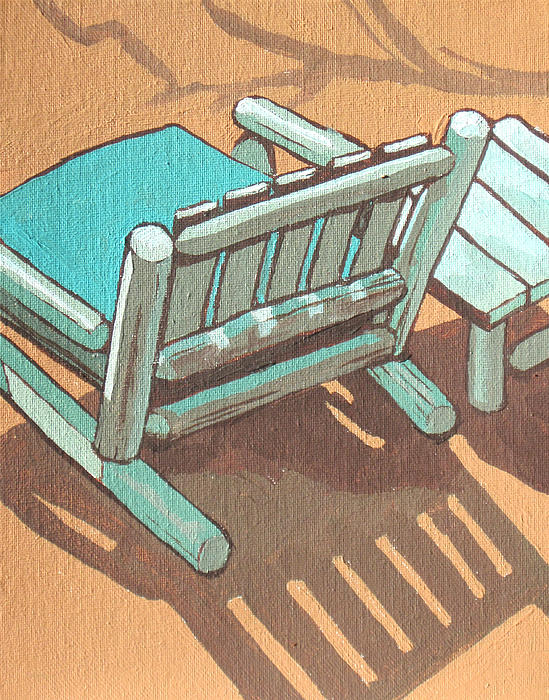 Chair Painting - Sit Back And Relax by Sandy Tracey