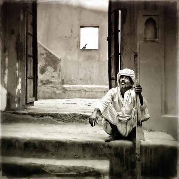 Jaipur Photograph - Sitting On Stairs by Mostafa Moftah