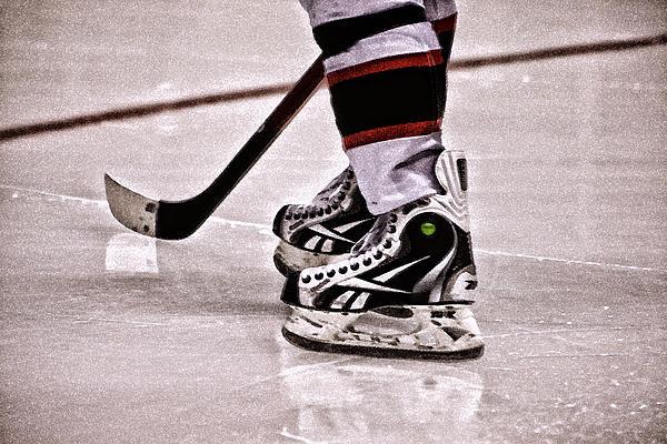 Ice Hockey Photograph - Skate Reflection by Karol Livote