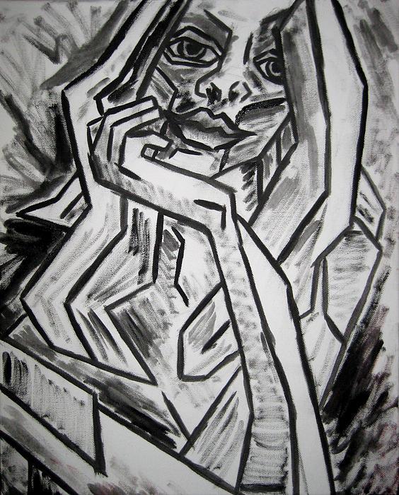 Intrigued Painting - Sketch - Intrigued by Kamil Swiatek