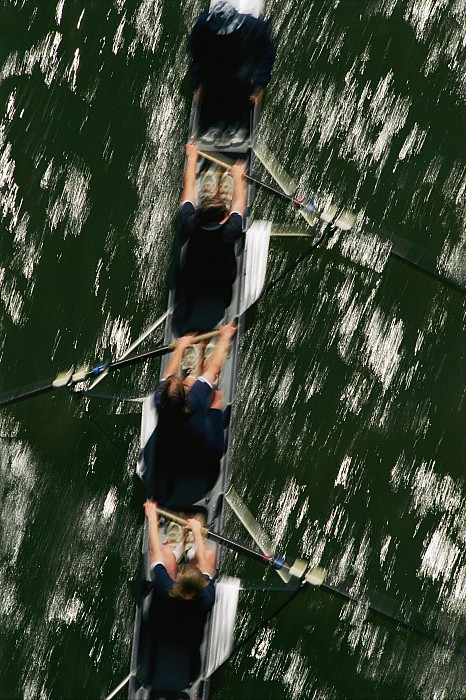Potomac River Photograph - Skullers On The Potomac River In D.c by Brian Gordon Green