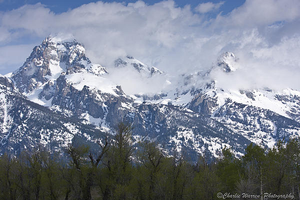 Grand Tetons Photograph - Skyscapers by Charles Warren